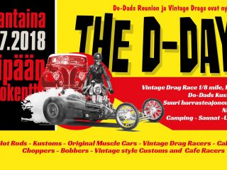 The D-Day ! Vintage Drags & DD Kustom show, Oripää, 28.7.2018